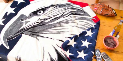 Eagle/Stars #541 50x60 Inch Throw Blanket