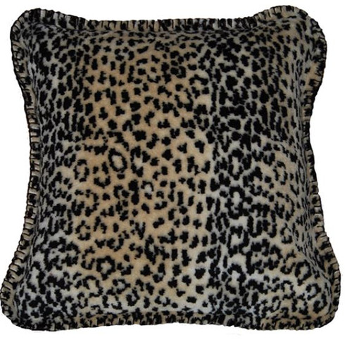 Leopard/Chocolate #819 18x18 Inch Throw Pillow
