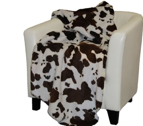 Brown Cow/Taupe #160 50x60 Inch Throw Blanket