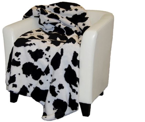 Black Cow/Black #131 50x60 Inch Throw Blanket