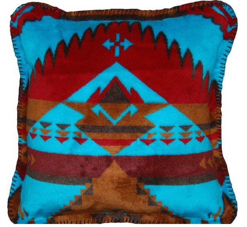 Native Journey/Taupe #718 18x18 Inch Throw Pillow
