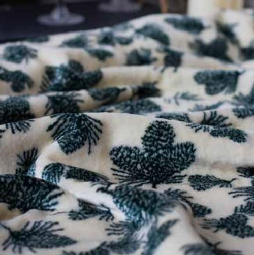 Winter Pine Cones/Pine #139 60x70 Inch Throw Blanket