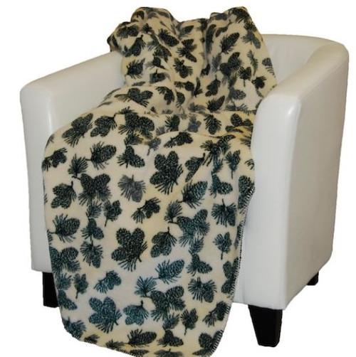 Winter Pine Cones/Pine #139 60x70 Inch Throw Blanket