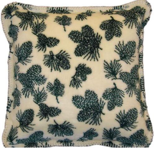 Winter Pine Cones/Pine #139 18x18 Inch Throw Pillow