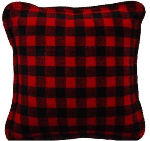 Red-Black Buffalo Check/Black #604 18x18 Inch Throw Pillow