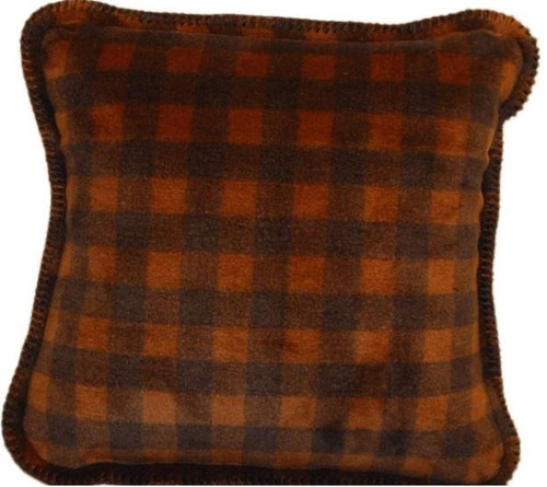 Gold-Taupe Buffalo Check/Taupe 18x18 Inch Throw Pillow