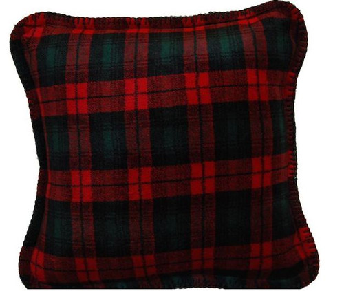 Classic Plaid/Spruce #619 18x18 Inch Throw Pillow