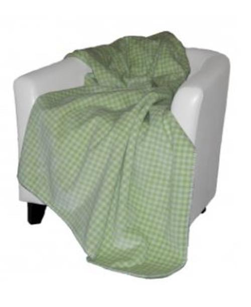 Gingham Light Green/Light Green #123 50x60 Inch Throw Blanket