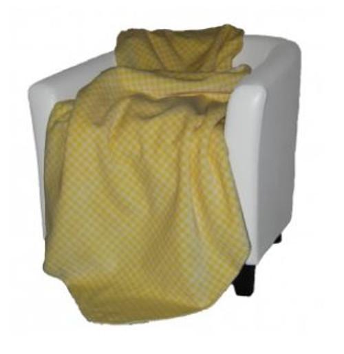 Gingham Light Yellow/Light Yellow #125 50x60 Inch Throw Blanket