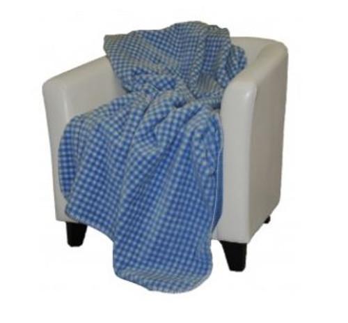 Gingham Light Blue/Light Blue #122 50x60 Inch Throw Blanket