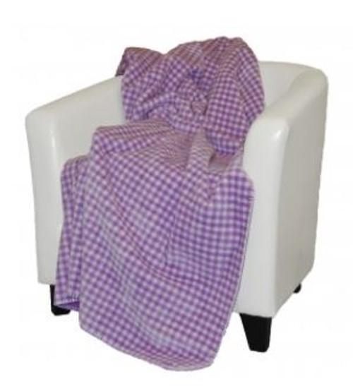 Gingham Light Lilac/Light Lilac 50x60 Inch Throw Blanket