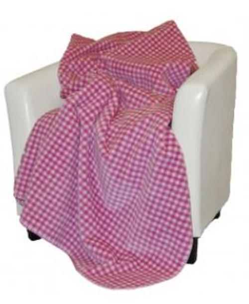 Gingham Light Pink/Light Pink #124 60x70 Inch Throw Blanket