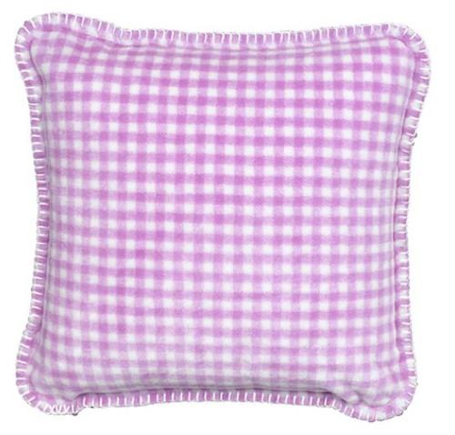 Gingham Light Lilac/Light Lilac #121 18x18 Inch Throw Pillow