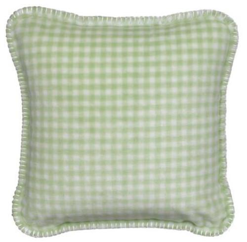 Gingham Light Green/Light Green #123 18x18 Inch Throw Pillow