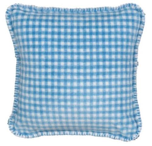 Gingham Light Blue/Light Blue #122 18x18 Inch Throw Pillow