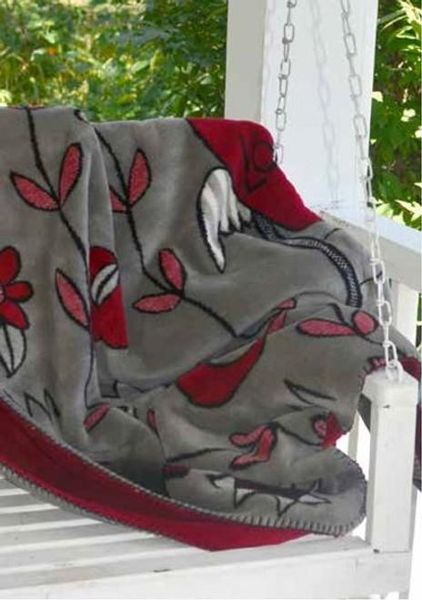 Love Ladder by Stick/Garnet #082 60x70 Inch Throw Blanket