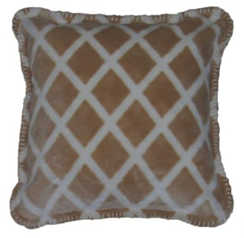 Cashew Lattice/Cashew #904 18x18 Inch Throw Pillow
