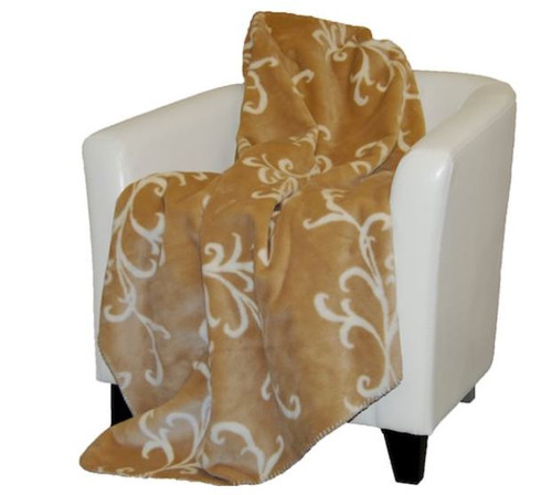 Cashew Swirl/Cashew #903 50x60 Inch Throw Blanket