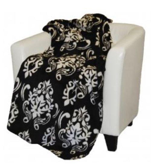 Black Medallion/Black #010 50x60 Inch Throw Blanket