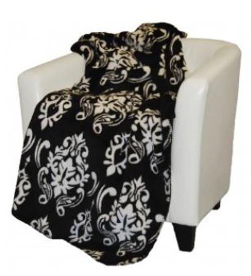 Black Medallion/Black #010 50x60 Inch Throw Blanket