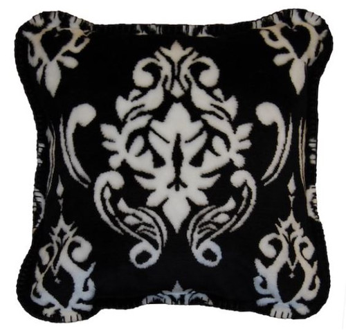 Black Medallion/Black #010 18x18 Inch Throw Pillow