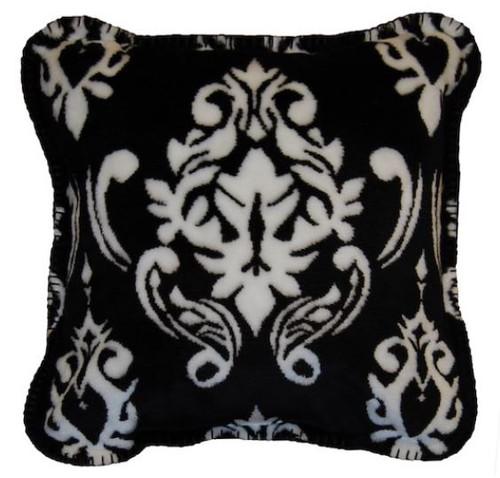 Black Medallion/Black #010 18x18 Inch Throw Pillow