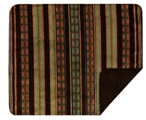 Denali Dark Chocolate Stripe Blanket