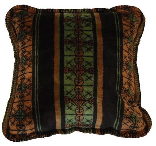 Dark Chocolate Stripe/Chocolate #242 18x18 Inch Throw Pillow