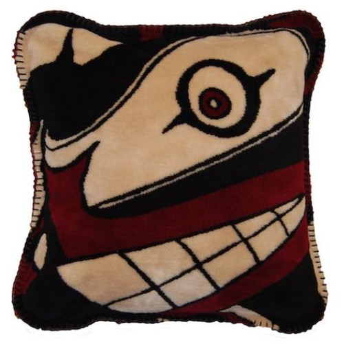 Sea of Dreams/Chocolate #975 18x18 Inch Throw Pillow