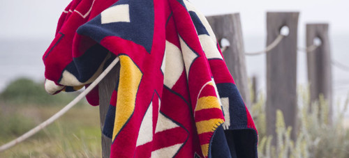Nautical Flags/Lapis #613 60x70 Inch Throw Blanket
