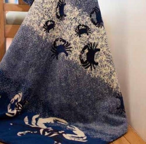 Atlantic Blue Sand Crabs/Lapis #474 60x70 Inch Throw Blanket