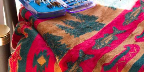 Fish Lodge/Spruce #618 50x60 Inch Throw Blanket