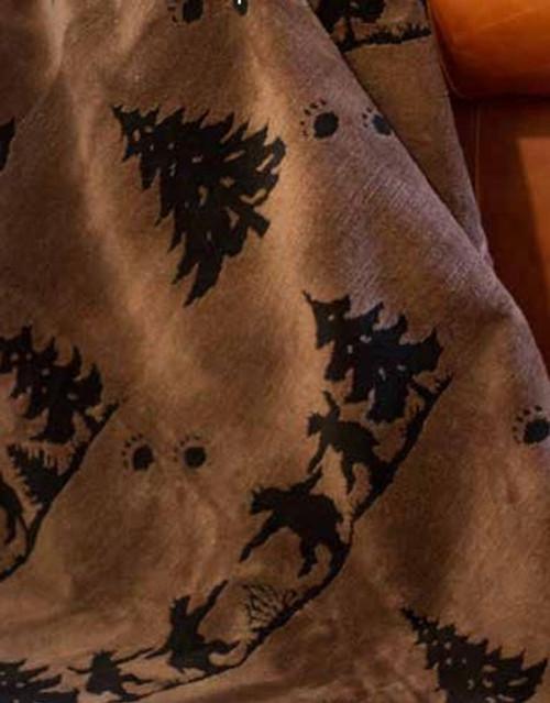 Bear Boogie/Black #916 50x60 Inch Throw Blanket