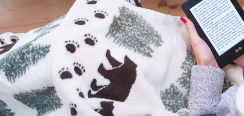 Pearl Denali Bear/Sage #103 50x60 Inch Throw Blanket