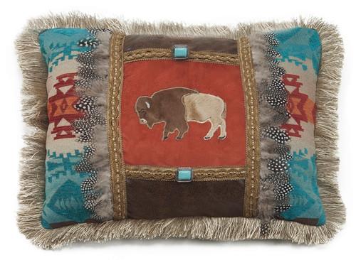 Feather Buffalo Pillow