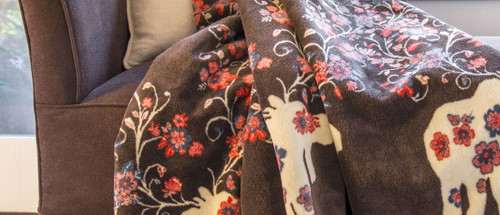 Moose Blossom Taupe/Taupe #227 50x60 Inch Throw Blanket