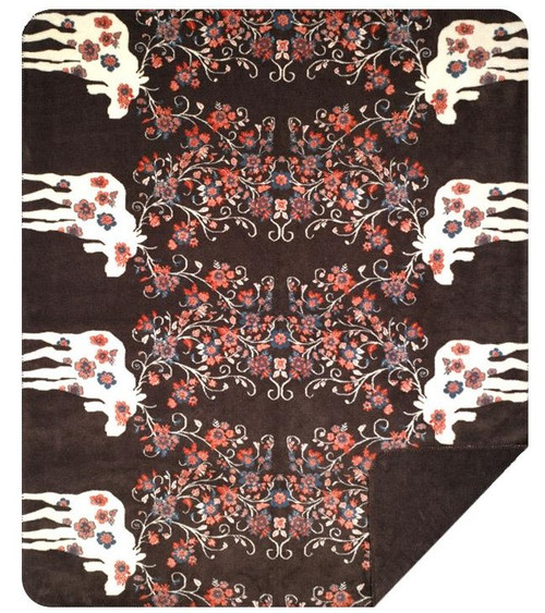 Denali Moose Blossom Taupe Blanket