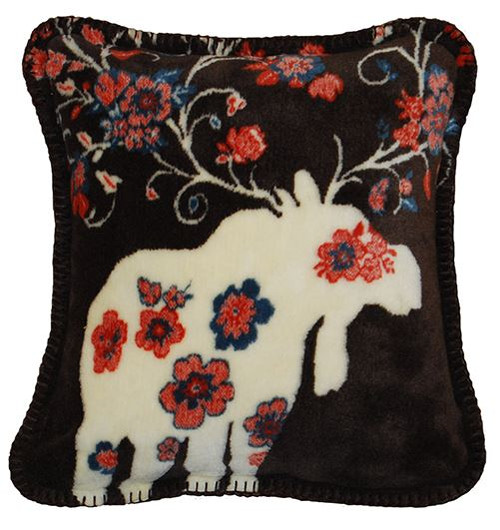 Moose Blossom Taupe/Taupe #227 18x18 Inch Throw Pillow