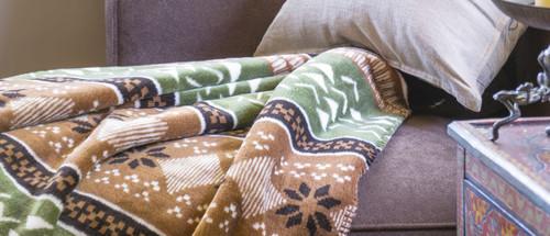 Nordic Deer/Chocolate #363 50x60 Inch Throw Blanket