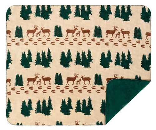 Denali Deer/Spruce #285 50x60 Inch Throw Blanket