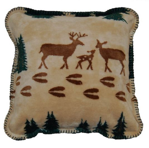 Denali Dee/Spruce #285 18x18 Inch Throw Pillow