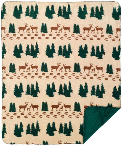 Denali Deer/Spruce #285 60x70 Inch Throw Blanket