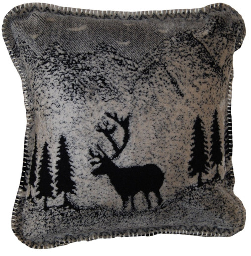 Black Forest Friends/Black #011 18x18 Inch Throw Pillow