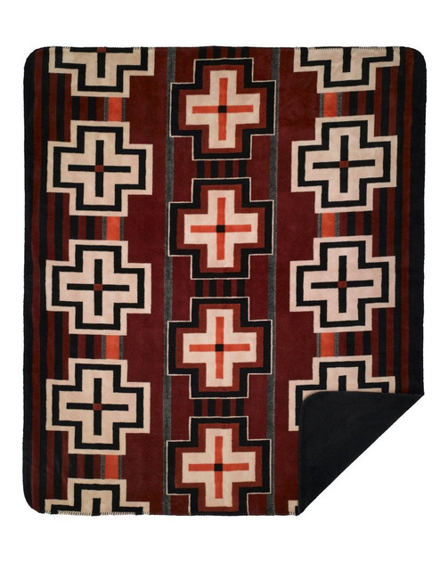 Bounty Red/Black #633 60x70 Inch Throw Blanket
