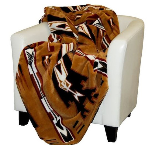 Horse Thieves Brown/Black #229 50x60 Inch Throw Blanket