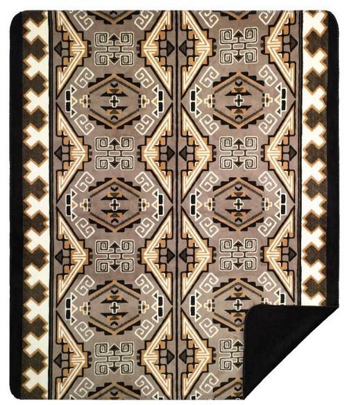 Trader Blanket/Black #226 60x72 Inch Throw Blanket