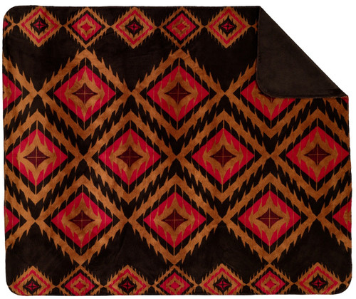 Denali Red Diamond/Chocolate #210 50x60 Inch Throw Blanket
