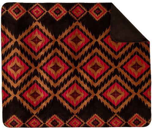 Denali Red Diamond/Chocolate #210 50x60 Inch Throw Blanket