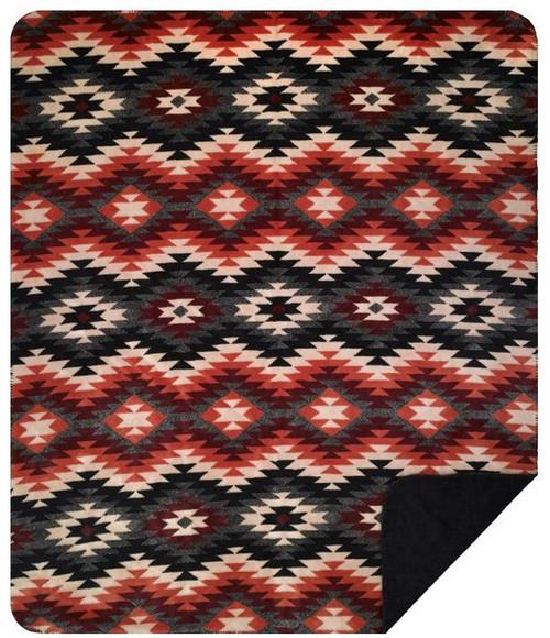 Denali Starburst Orange Blanket