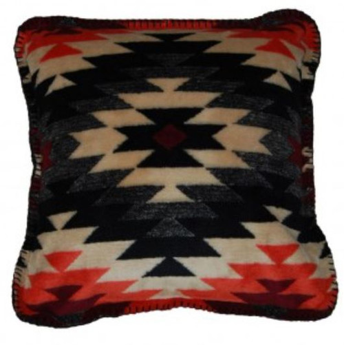 Starburst Orange/Black #225 18x18 Inch Throw Pillow